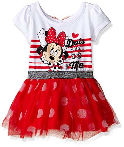 Minnie Mouse Red Dress (Disney Baby Girls' Minnie Mouse Dress, Red, 12 Months)