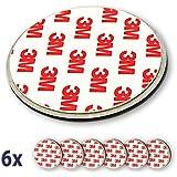 Nemaxx 6x NX1 Quickfix Magnet Set Befestigung Magnetbefestigung für Rauchmelder / Funkrauchmelder / Rauchwarnmelder / Rauchmelderbefestigung