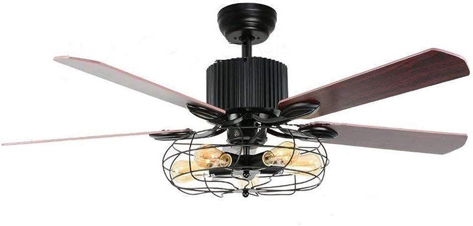 XHMCDZ Lámpara de techo de ventilador de techo de 52 pulgadas ...