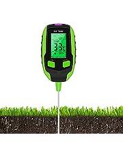 Justmetr Soil PH Meter, Soil Tester Moisture, Digital Plant Thermometer Test, Moisture Meter Light and PH Tester for Potted Plants, Gardens, Lawns (Green)