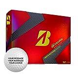 Bridgestone B330RX Personalized Golf Balls - Add Your Own Text (12 Dozen) - Yellow