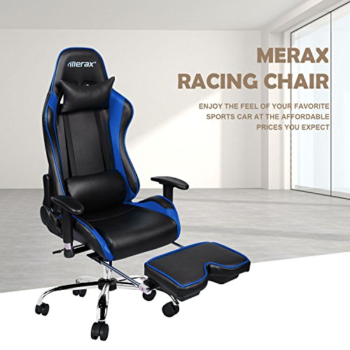 51KYyeXc2iL - Merax-Ergonomic-Racing-Gaming-Chair-with-Adjustable-Armrests-High-Back-PU-Leather-Chair-with-Footrest-Home-Office-Chair