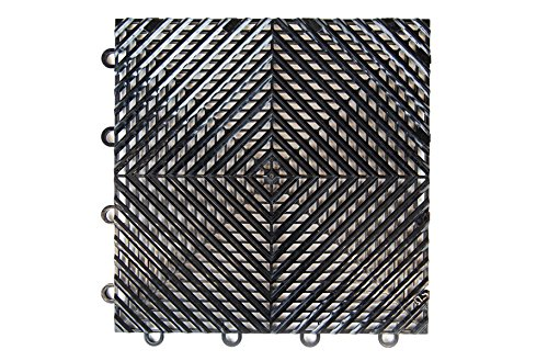 IncStores Nitro Garage and Utility Vented Tiles 52 Tile Pack Covers 52 Square Feet (Black)