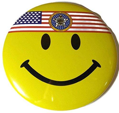 Chic 4 in 1 Emoticon GREAT SEAL OKLAHOMA OK US Flag Jumbo Badge Button Pin (Wigs Minneapolis)