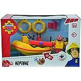Sam El Bombero Neptuno, lancha de agua con figura y accesorios, color amarillo (Simba 9251660)