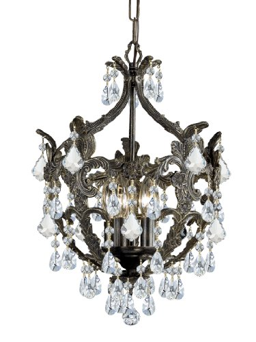 5195-EB-CL-MWP Legacy 5LT Mini-Chandelier, English Bronze Finish with Clear Hand Cut Crystal