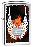 Zippo 250 Harley Davidson High Polish Chrome Lighter with Wings