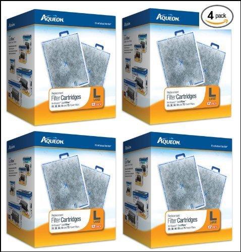 Aqueon Large Filter Cartridges 48-Pack