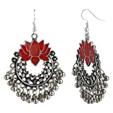 Efulgenz Boho Jewelry Indian Oxidized Silver Afghani Vintage Retro Ethnic Dangle Tribal Tibetan Gypsy Dangle Earrings for Girls Women