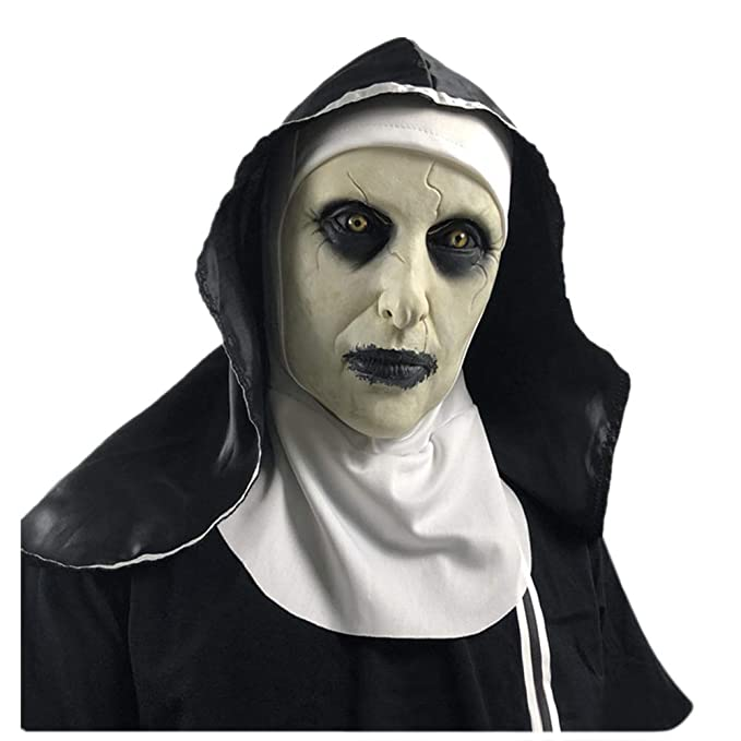 Details about NEW HALLOWEEN 2019 MASK SCARY Purge Cosplay Costume Scary The  Town Nun MOVIE