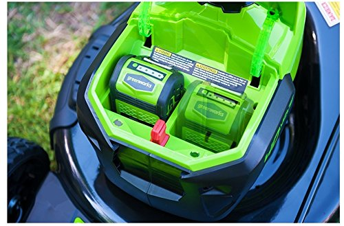 GreenWorks MO40L2512 G-MAX 40V 21'' Brushless Dual PH Mower with Two 2.5AH Batteries and Charger