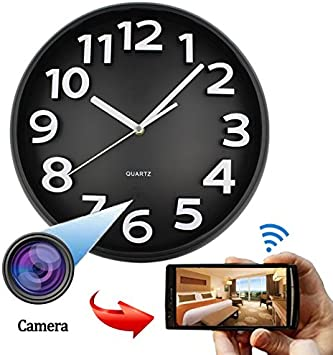 Amazon.com: WiFi HD Spy oculta cámara IP dvr reloj de pared ...