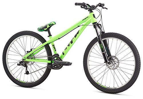 Mongoose Men's Fireball 8 Speed 26″ Wheel, Green, One Size