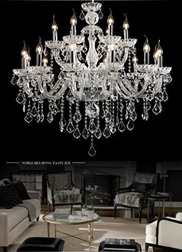 Generic Luxury Pendant Lamp Crystals Chandelier 18 Lights Arms Lamp Color Clear by non-brand (Image #1)
