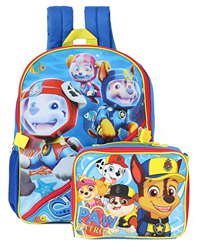 PAW Patrol Boys Backpack with Lunch, Blue, One Size