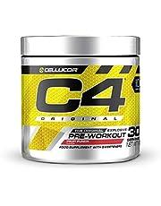 Pre-workout Powder C4 Original Fruit Punch | Pre-workout Energy Drink Supplement | 150mg Cafeïne + Bèta-alanine + Creatine-monohydraat | 30 Doseringen