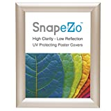"""Cream Poster Frame 8x10 Inches, 1"""" SnapeZo Profile, Front Loading Quick Poster Change, Wall Mounted, Professional Series"""