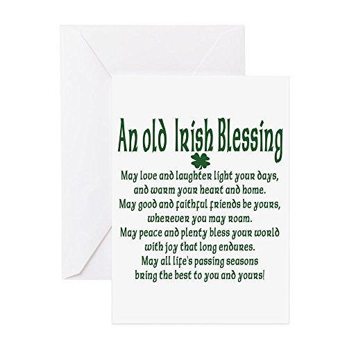 CafePress - Old Irish Blessing - Greeting Card (20-pack), Note Card with Blank Inside, Birthday Card Matte