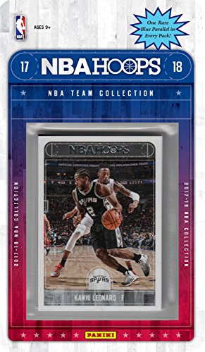fan products of San Antonio Spurs 2017 2018 Hoops Basketball Factory Sealed 8 Card NBA Licensed Team Set with Kawhi Leonard and Tony Parker Plus