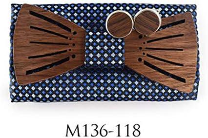 Pajarita de Madera Corbatas de lazo de madera 3D Pajarita de ...
