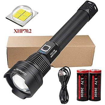 6000 Lumens XHP50  LED Waterproof Flashlight High Brightness Torch Lamp Light GA