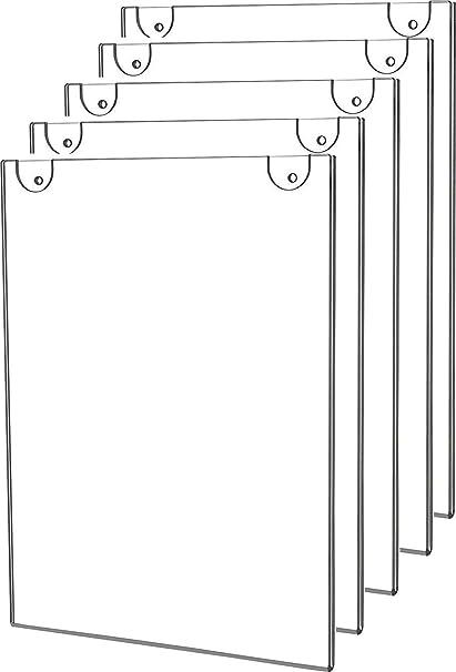 Paquete de 5 soportes de pared de acrílico para carteles ...