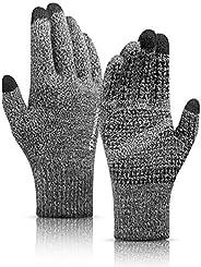 Gloves Touchscreen, TRENDOUX Winter Glove Women Men, Texting Smartphone Riding - Anti-Slip - Elastic Cuff - Th