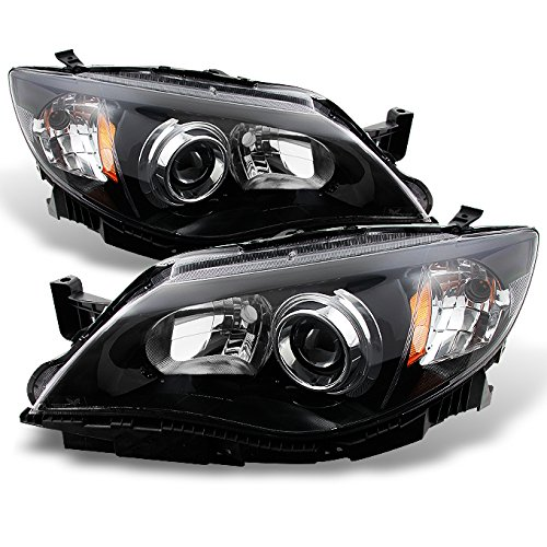- For Subaru Impreza Outback WRX Projector Headlights Black Driver/Passenger Headlamps