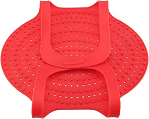 Non-Stick Turkey Lifter, Food Grade Silicone Heat Resistant Meat Lifter, Poultry Cooking Mat for Oven Chicken Baking Mat Pan Roast(Red, Orange, Green)(Red)