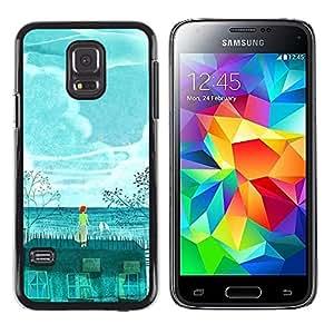 iKiki Tech / Estuche rígido - Painting Whale Environment Global - Samsung Galaxy S5 Mini, SM-G800, NOT S5 REGULAR!