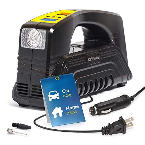 Kensun Bike Tire Pump 110V AC Home / 12V DC Car Electric Pow