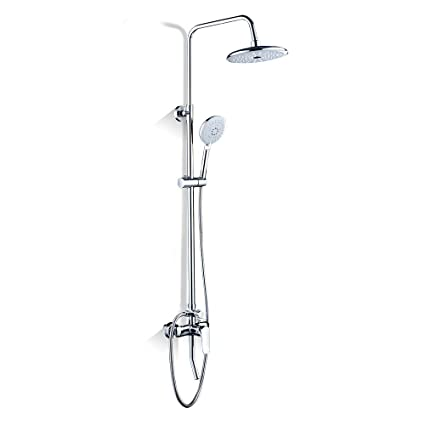 Bath Shower Mixer Tap with Rainshower Shower Set Rain Shower Set Shower System with Shower Head