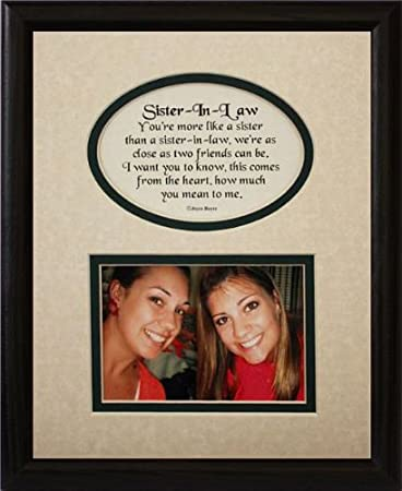 Amazon.com - 8x10 SISTER-IN-LAW Picture & Poetry Photo Gift Frame ...