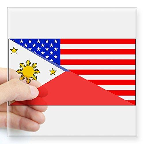 CafePress Filipino American Flag Sticker - Square Bumper ...