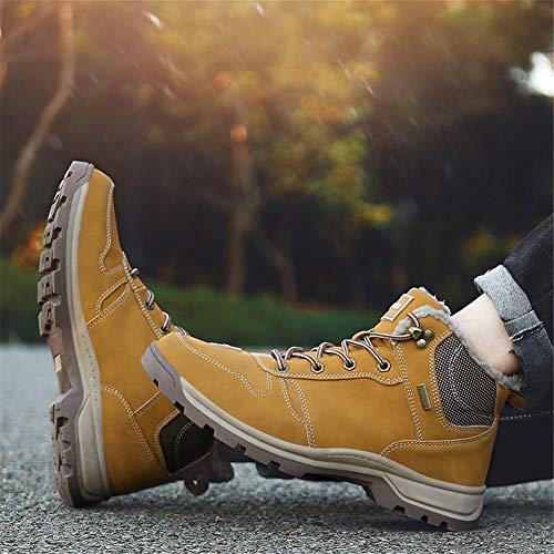 1 Stivaletti Boots Pelliccia Stivali Uomo Scarpe Eu Invernali Da Caloroso 36 Escursionismo Sportive Allineato 46 Caviglia Neve Giallo Piatto wFgvUq