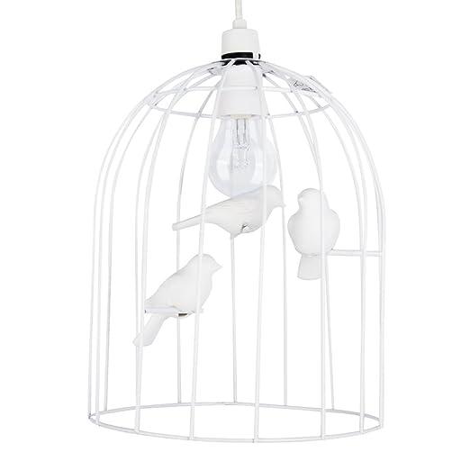 MiniSun - Decorativa pantalla de lámpara techo con forma de jaula ...