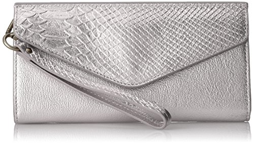 (Liebeskind Berlin Women's Ceuta Metallic Leather Wristlet,)
