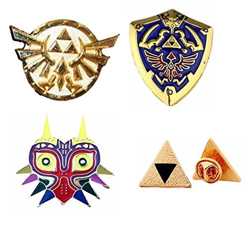 The Legend of Zelda Trilogy Metal Enamel Set of 4 Pins