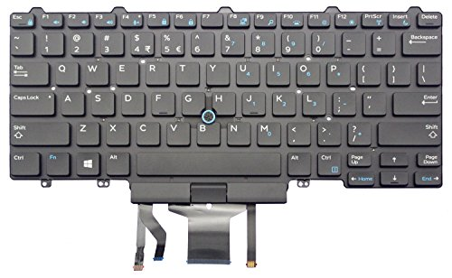 New for Dell Latitude E5450 E7450 0D19TR Keyboard US Black with Backlit pointing