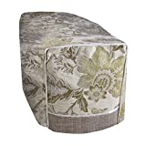 Anastasia Floral Patterned Chair Arm Cap (One Size) (Cream)