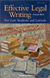 Effective Legal Writing, Gertrude Block, 1566627931