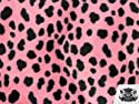 Velboa Faux / Fake Fur Dalmatian PINK AND BLACK Fabric By the Yard by FABRIC EMPIRE