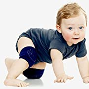 Beautyvan Functional Baby Crawling Anti-Slip Knee Compression Sleeve Unisex Kneecap Coverage (Navy)