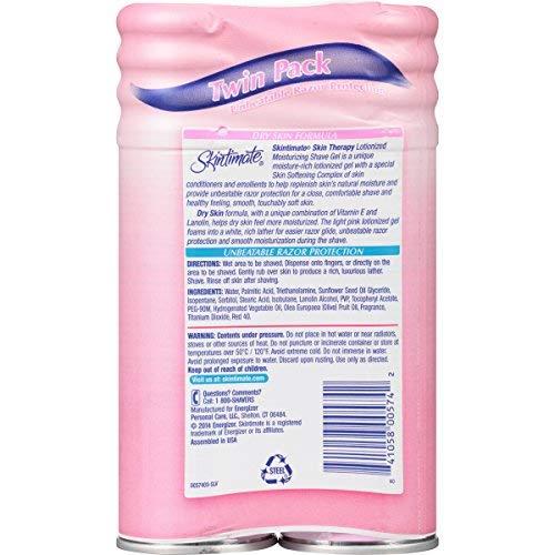 Skintimate DrySkin Shave Gel for Women (Pack of 36)