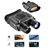 Night Vision Binoculars – Infrared Night Vision Hunting Binoculars with Large Viewing Screen Can Take Day or Night Photos & 640p Video from 400m/1300ft