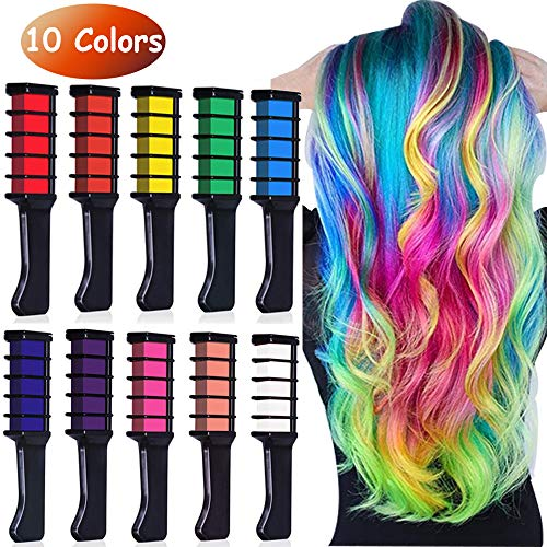Runlong Hair Chalk Comb 10 Pcs Temporary Hair Color Dye For Import It All