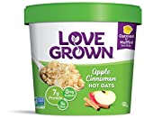Love Grown Apple Cinnamon Hot Oats, 2.22 oz. Cup, 8-Pack