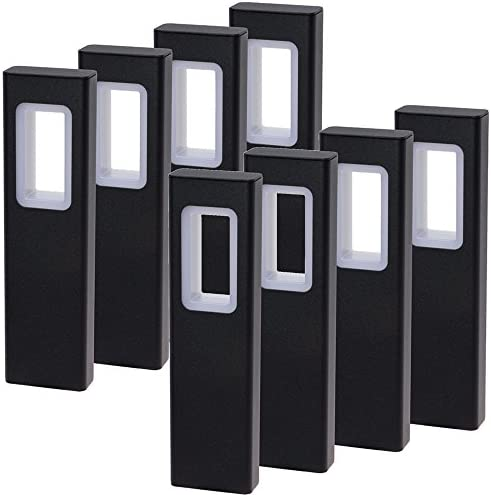 GreenLighting Modern High End Bollard Garden Path Light Black, 8 Pack