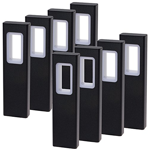 GreenLighting Modern High End Bollard Garden Path Light (Black, 8 Pack) ()