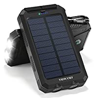 Solar Charger Teryei Solar Power Bank 15...